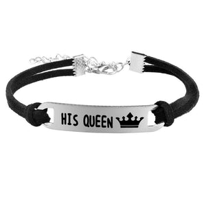Her King | His Queen Couple Rope Chain Bracelets