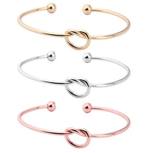 Pure Copper Love Knot Bangle Bracelet