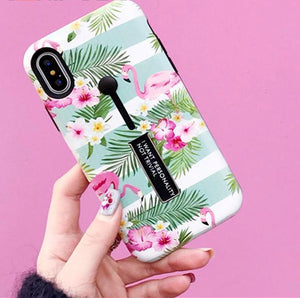 Flamingo Ring Stand iPhone Case