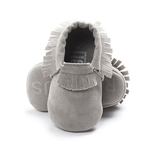 Suede Leather Baby Moccasin Shoes