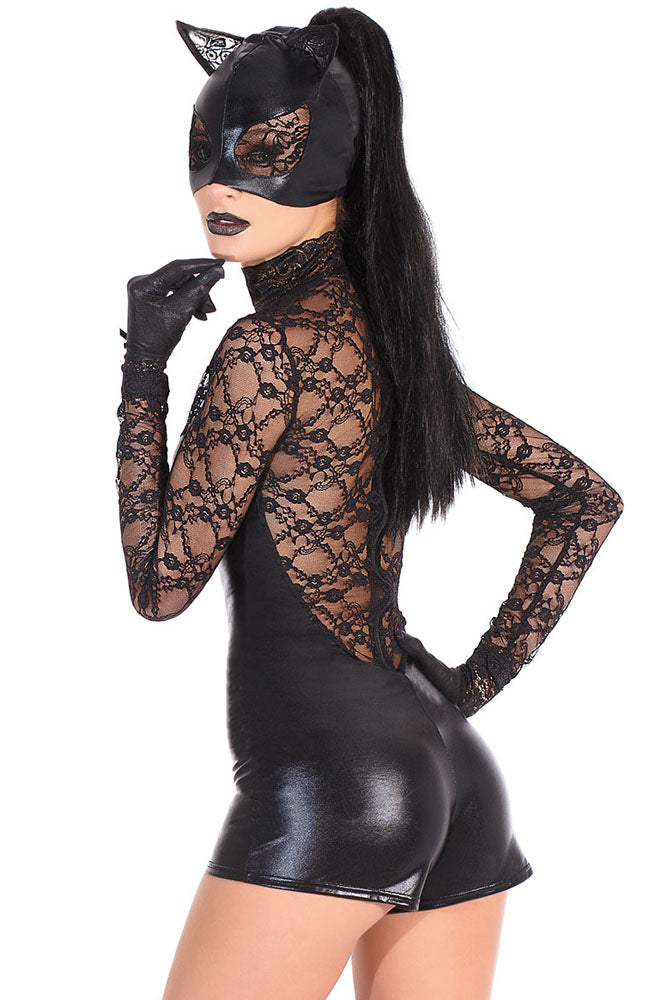 Black Lace Cat Costume.
