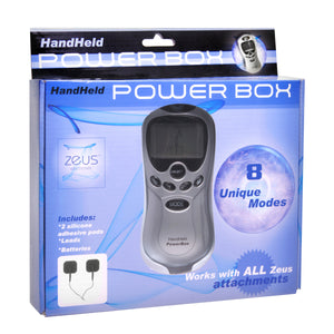 Zeus Handheld 8 Mode Power Box With Black Pads
