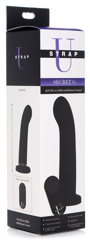 Secret G 21x Silicone Dildo With Remote Control