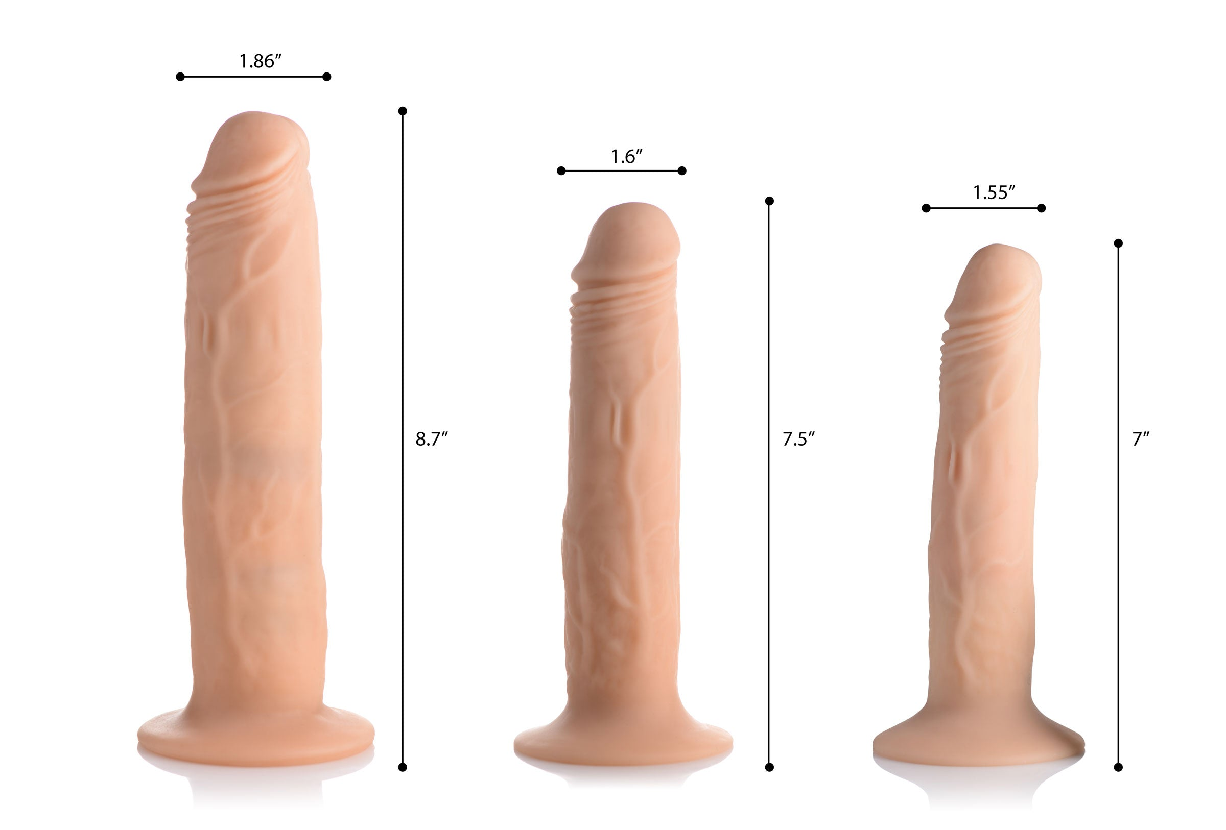 Kinetic Thumping 7x Remote Control Dildo - Large