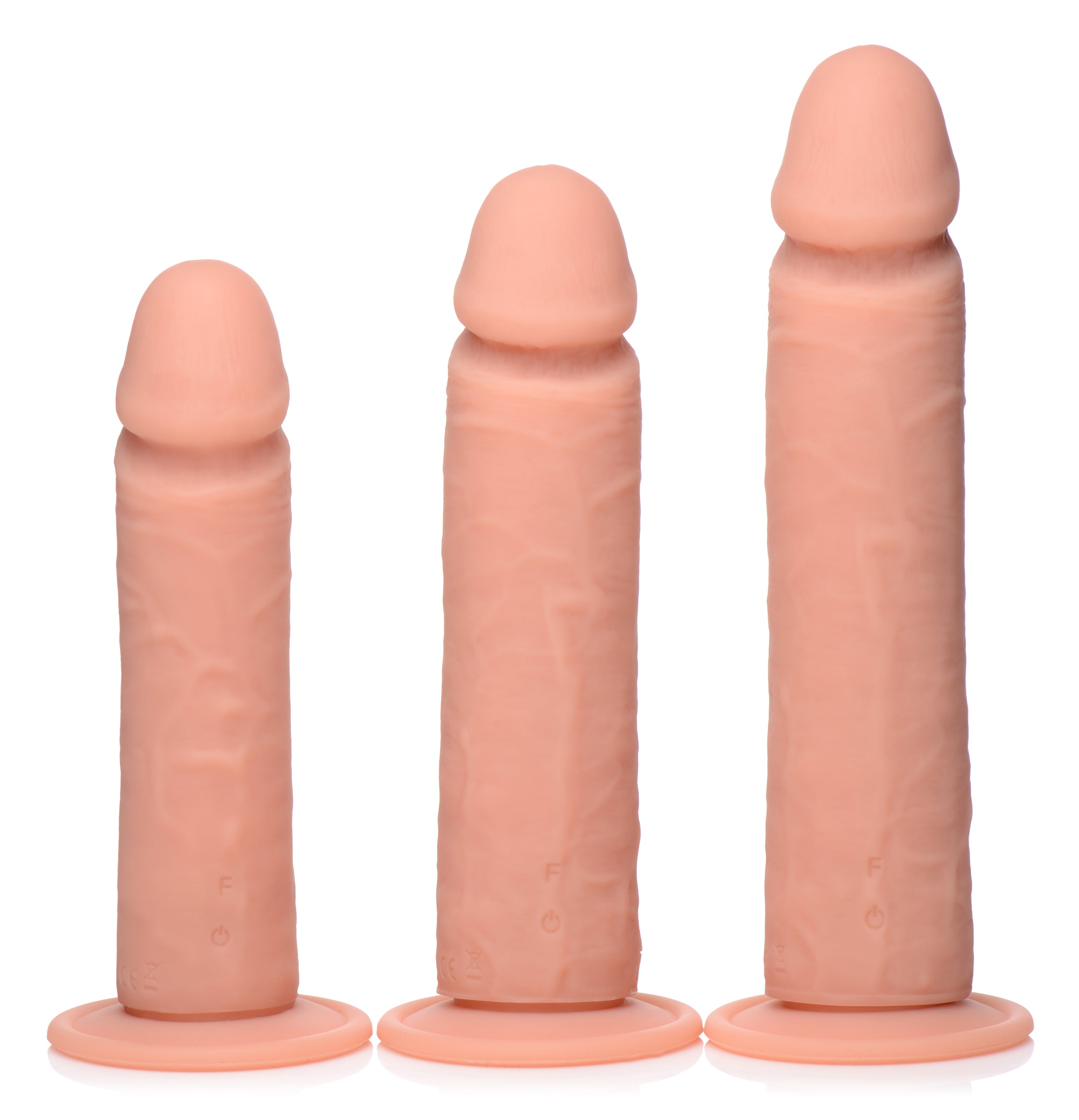 Big Shot Vibrating Remote Control Silicone Dildo - 8 Inch