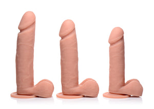 Big Shot Vibrating Remote Control Silicone Dildo With Balls - 8 Inch