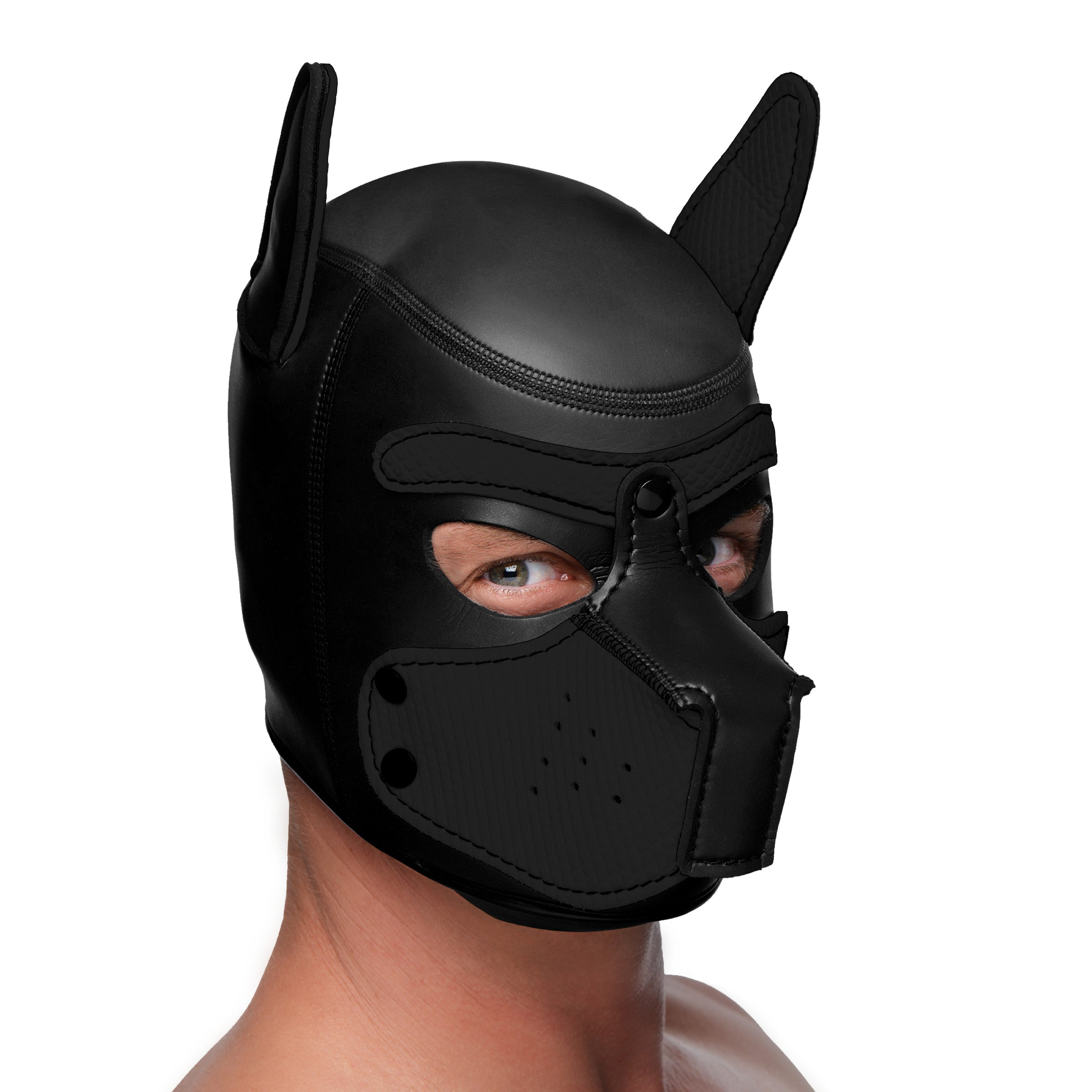 Spike Neoprene Puppy Hood - Black