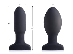 Worlds First Remote Control Inflatable 10x Vibrating Missile Silicone Anal Plug