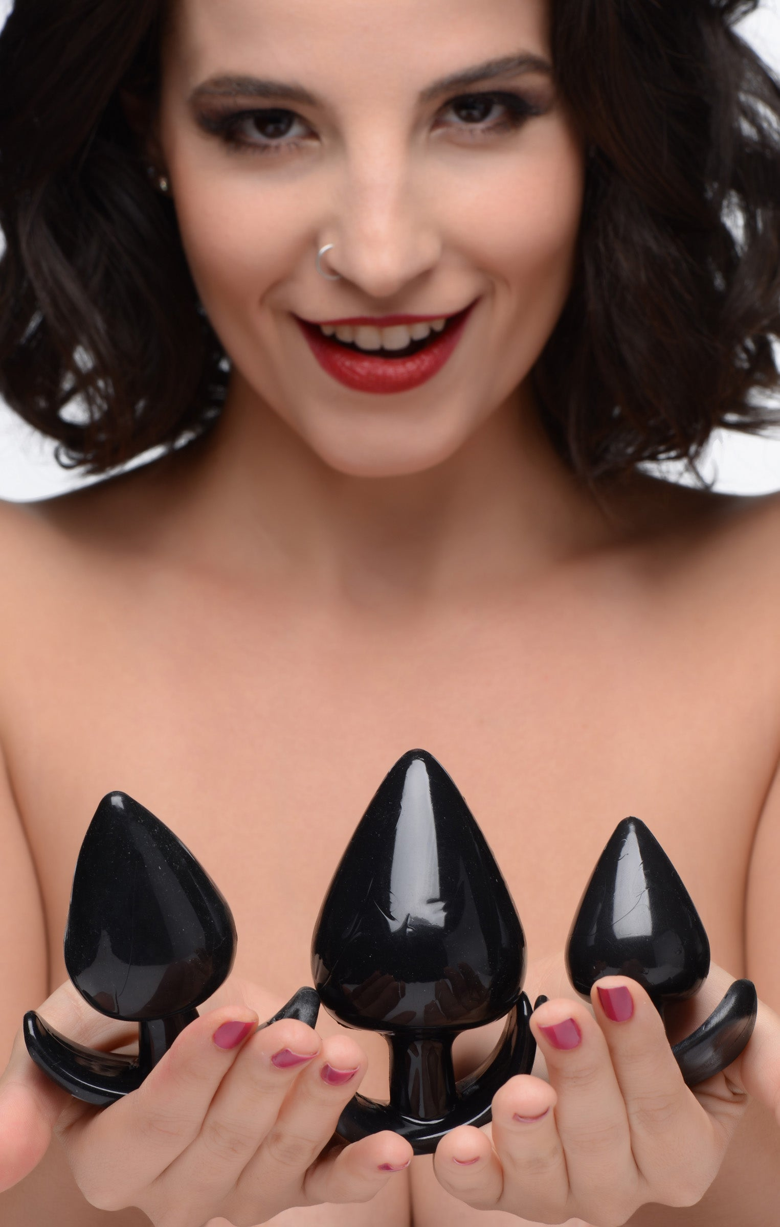 Triple Spades 3 Piece Anal Plug Set