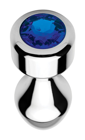 Blue Gem Weighted Anal Plug - Large