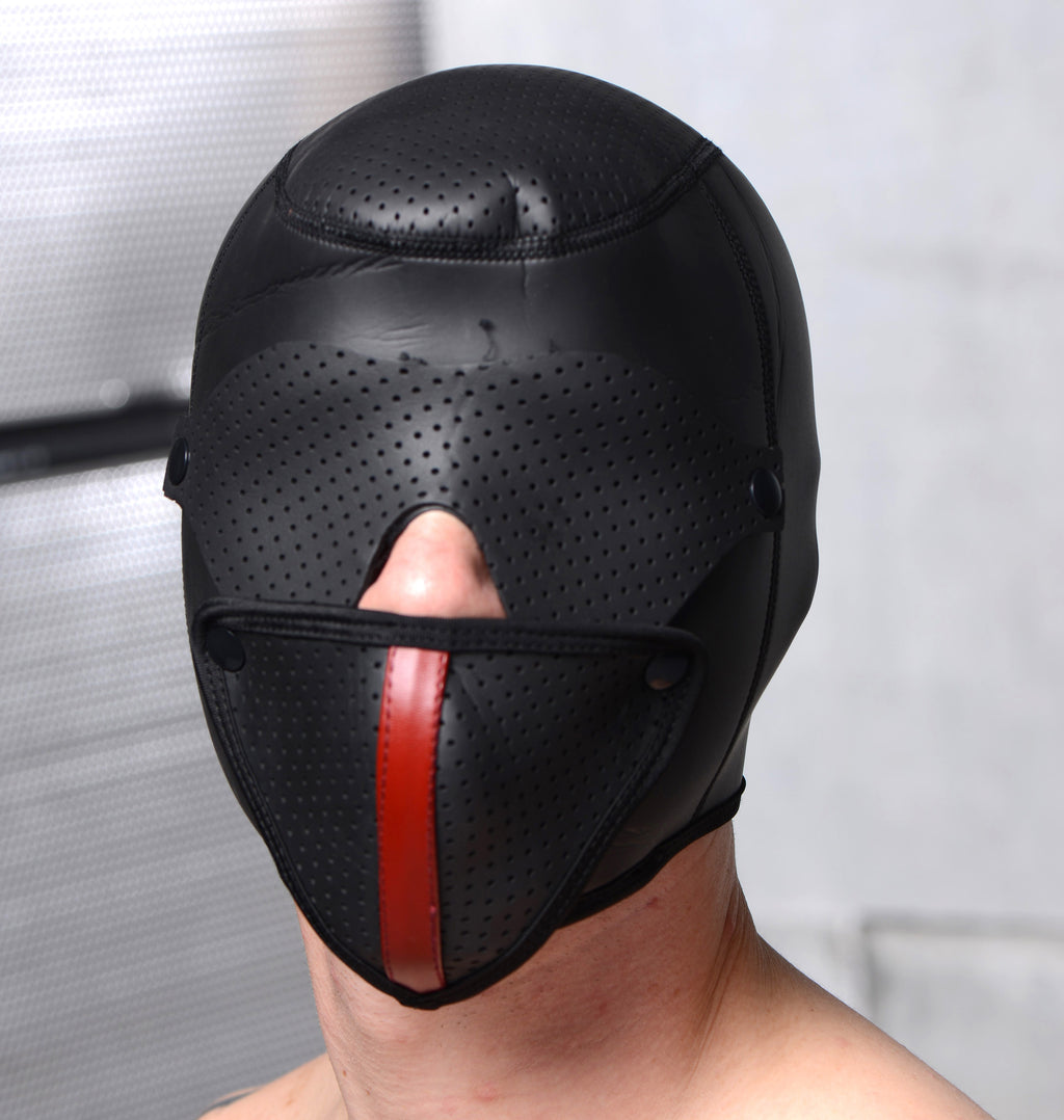 Scorpion Hood With Removable Blindfold And Face Mask/Strict Leather Premium Locking Arm Splints