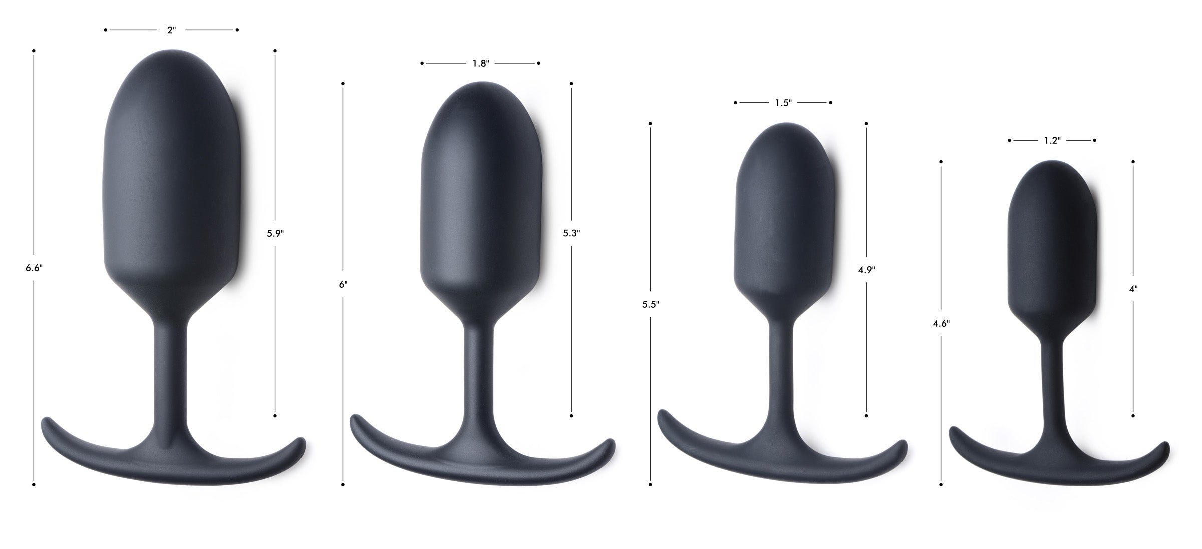 Premium Silicone Weighted Anal Plug - Small