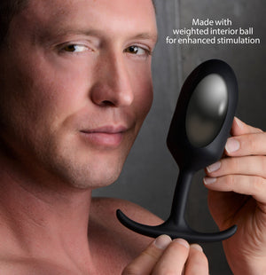 Premium Silicone Weighted Anal Plug - Xl