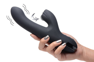 5 Star 13x Silicone Pulsing And Vibrating Rabbit - Black