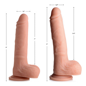 Vibrating And Rotating Remote Control Silicone Dildo With Balls - 8 Inch