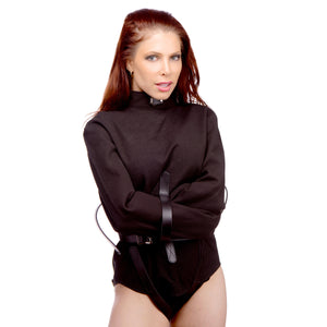 Strict Leather Black Canvas Straitjacket- Medium