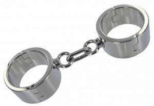 Chrome Wrist Shackles - MediumLarge
