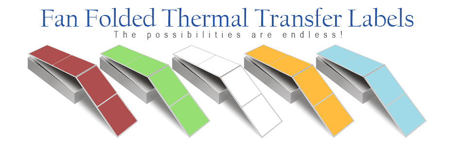 Color Thermal Transfer Labels, Fan Folded