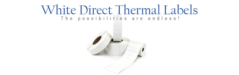 White Direct Thermal Labels