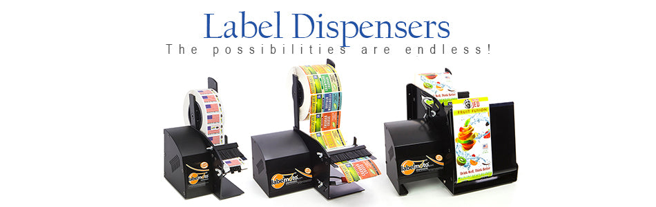 Electric Label Dispensers, Re-Winders and Applicators