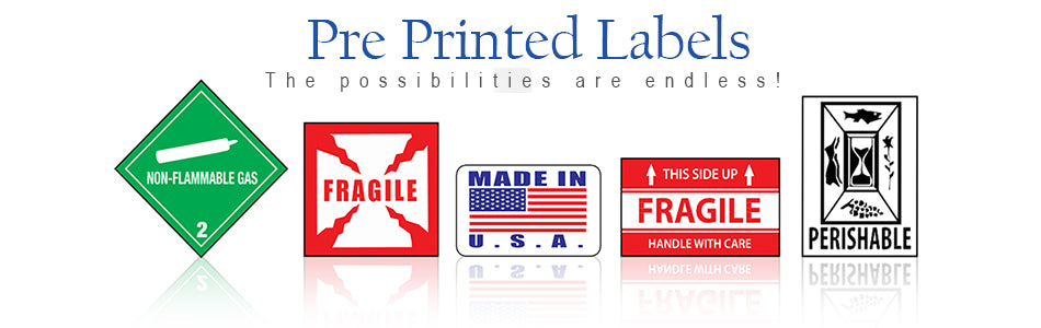 PrePrinted / Shipping Labels