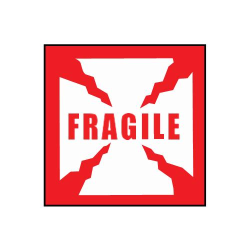 """Fragile"" Sticker 4"" x 4"""