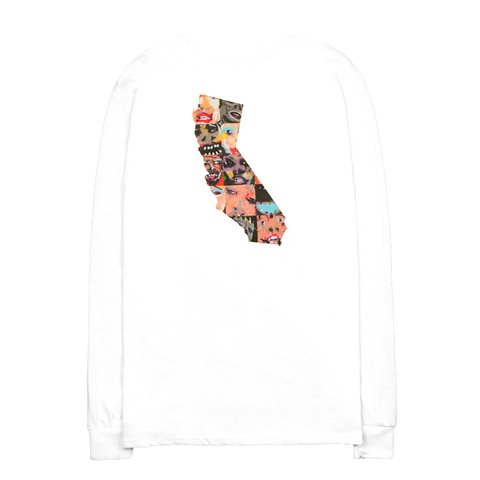 California Collage White Long Sleeve Shirt