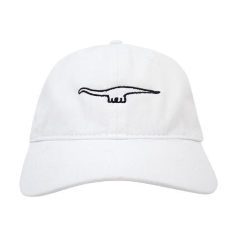 White Diplodocus Dad Hat