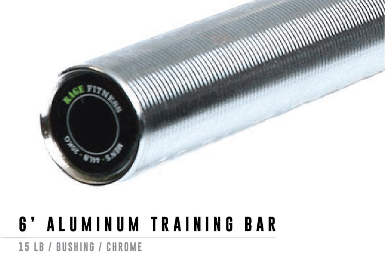 6' Aluminum Training Barbell
