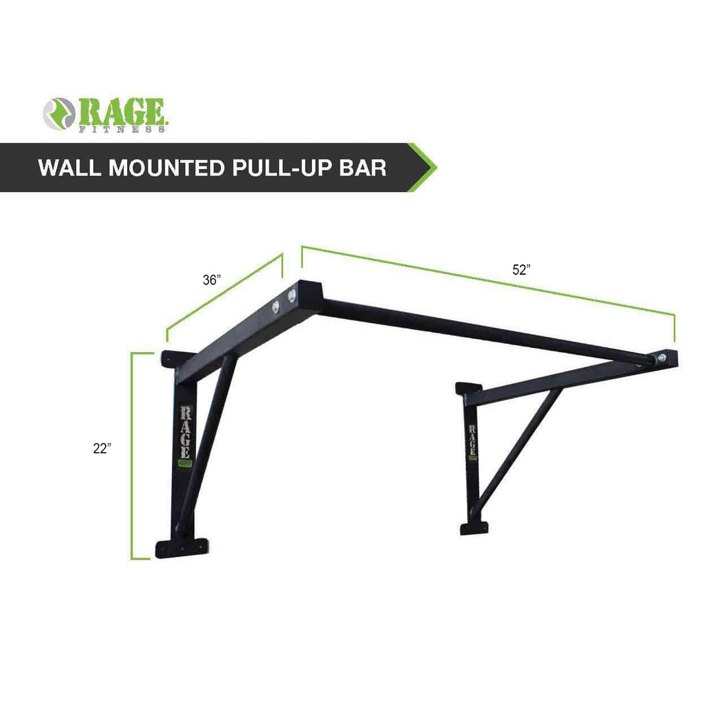 R2 Wall Mounted Pull-Up Bar - RAGE Fitness