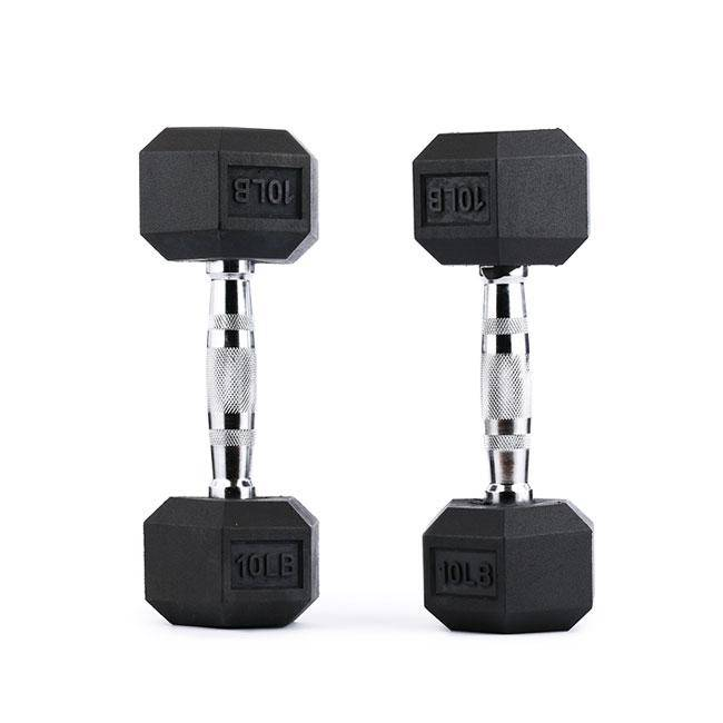 Hex Rubber Dumbbells - RAGE Fitness