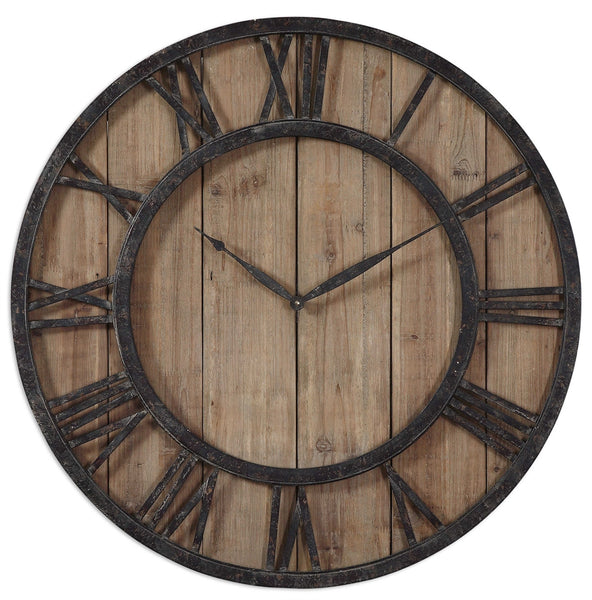 clock, rustic clock, rustic wood, reclaimed wood, rustic metal, wood clock, wooden clock,  metal clock, roman numerals, beautiful clock