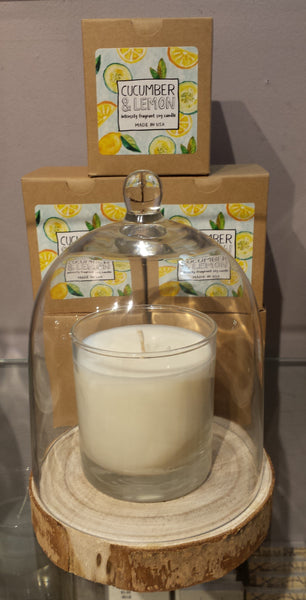 scented candle, scented soy candle, made in the usa, american made, intensely fragrant soy candle, gift, housewarming, Cucumber lemon scented candle, cucumber lemon soy candle, cucumber candle, lemon candle, citrus candle, Cucumber scent, lemon scent, american made candle