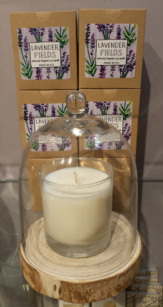 Lavender Fields, Lavender candle, lavender, soy candle, hand poured candle, intensely fragrant soy candle, made in the USA, made in America,