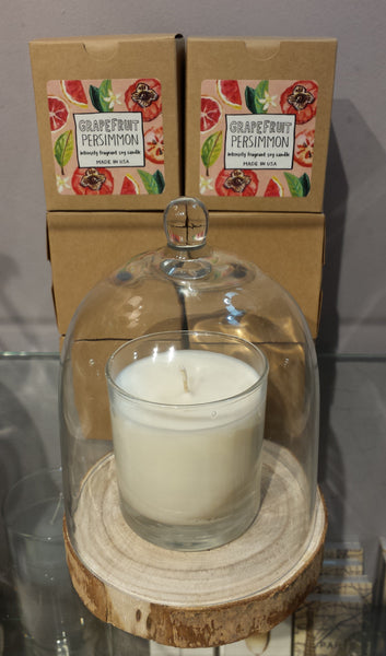 scented candle, scented soy candle, waterside scented candle, made in the usa, american made, intensely fragrant soy candle, gift, housewarming, Grapefruit candle, grapefruit scented candle, grapefruit soy candle, grapefruit persimmon candle, persimmon scented candle, persimmon soy candle, grapefruit persimmon soy candle, american made candle