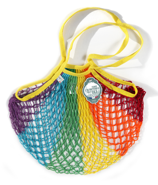filt, bag, grocery bag, rainbow, rainbow bag, rainbow grocery bag, made in france