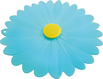 Charles Viacin, bowl cover, blue daisy, kitchenware