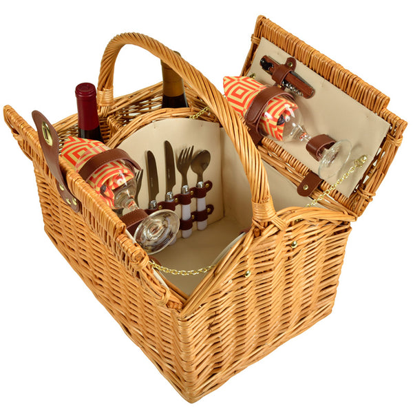 picnic basket, real picnic basket, picnic basket sale, picnic basket discount, wine basket, lifetime warranty