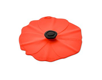 Silicon Poppy Drink Cover, set of two