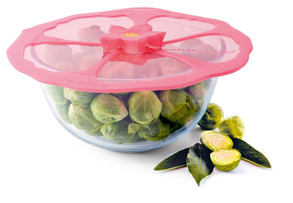 Silicon Hibiscus 6 in. Bowl Cover