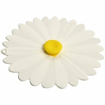 Silicon White Daisy Drink Cover, set of two