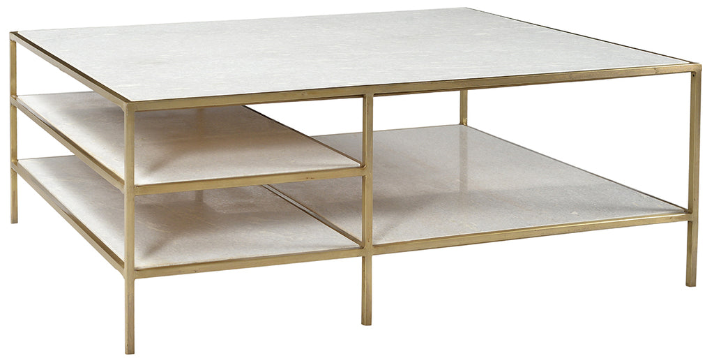 Higgins Brass Coffee Table Left Bank Home