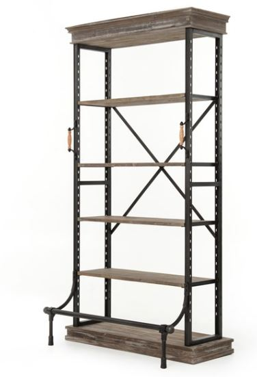 Braxton Wood & Iron Bookcase