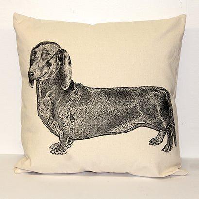 dachshund pillow, pet pillow, dachshund pillow sale, Eric & Christopher, made in the US, hand made, bucks county