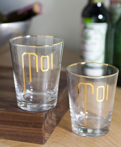 moi glass, toi glass, new couple gift, couple gift, wedding gift