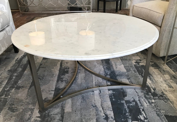 SALE!  Round Marble Top Coffee Table