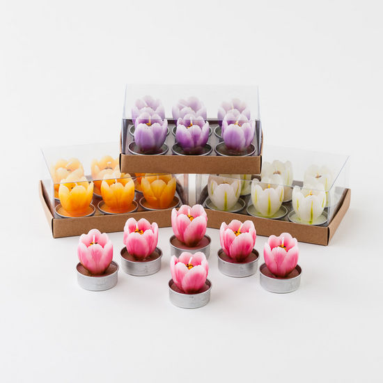 tulip, tea light, tulip tea lights, tulips, colorful tulips, colorful tea lights, candles, tulip candles, colorful candles