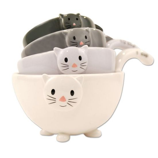measuring cups, cat lover, pet lover, cat lover gift, pet lover gift, cat measuring cups