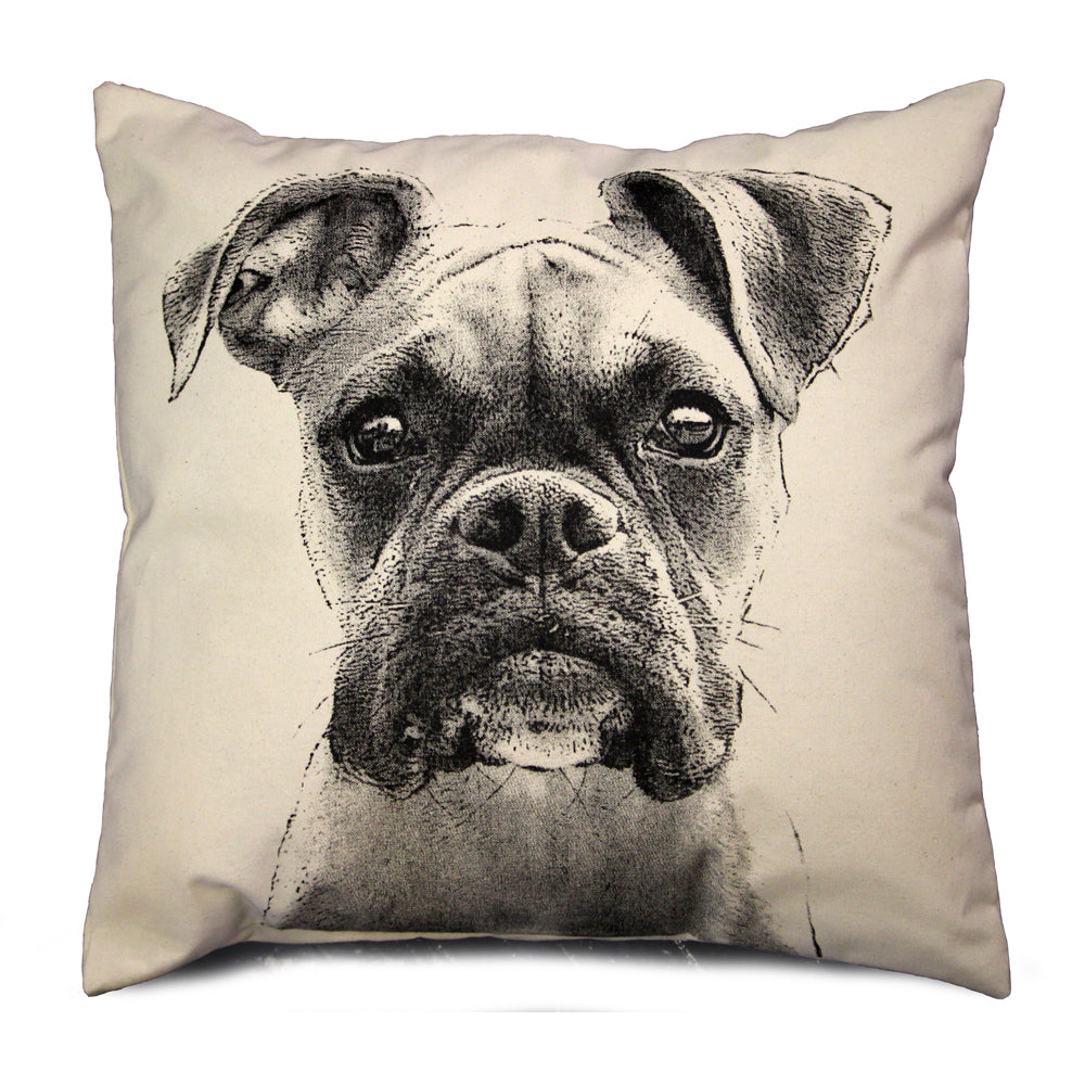 Boxer pillow, dog pillow, Boxer pillow sale, Eric & Christopher, hand made pillow, made in the US