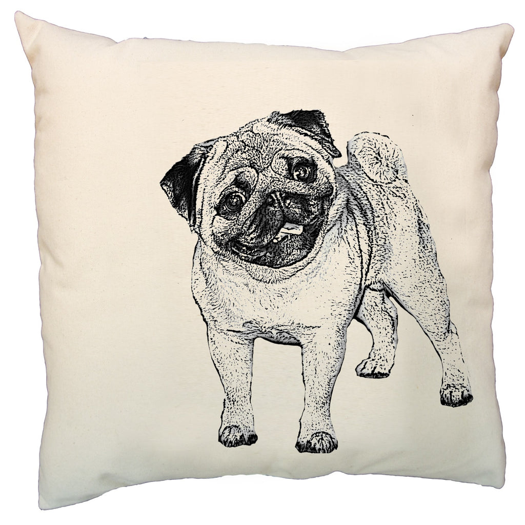 pug pillow, dog pillow, pet pillow, pug pillow sale, Eric & Christopher, hand made pillow, made in the US, bucks county